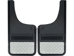 Truck Hardware Gatorback Mud Flaps - Diamond Tread Stainless Steel Plate
