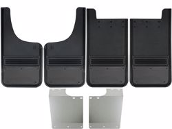 Picture of 1999-2016 Ford F-250/F-350 Gunmetal Finish Stainless Steel Gatorback Mud Flap Set
