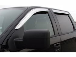 Stampede Tape-On Window Deflectors - Chrome