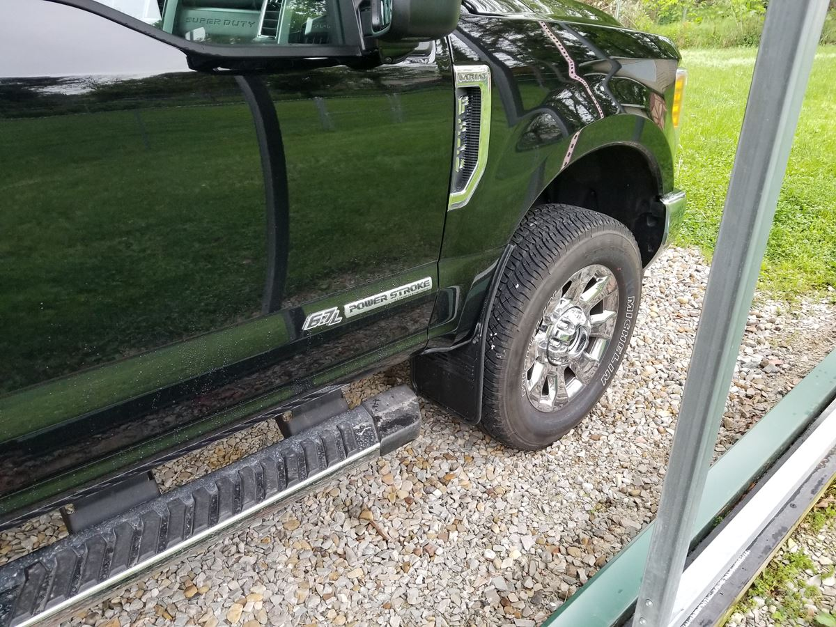 2017 2018 Ford F250 F350 Black Powder Coated Plate Gatorback Mud 1955 F100 Truck Moon Caps Follow The Instructions Along With Youtube Video And Installation Was A Breeze They Work Great On Dusty Muddy Roads Of Western Pa