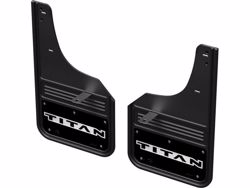 Gatorback Mud Flaps - Titan Logo with Black Wrap