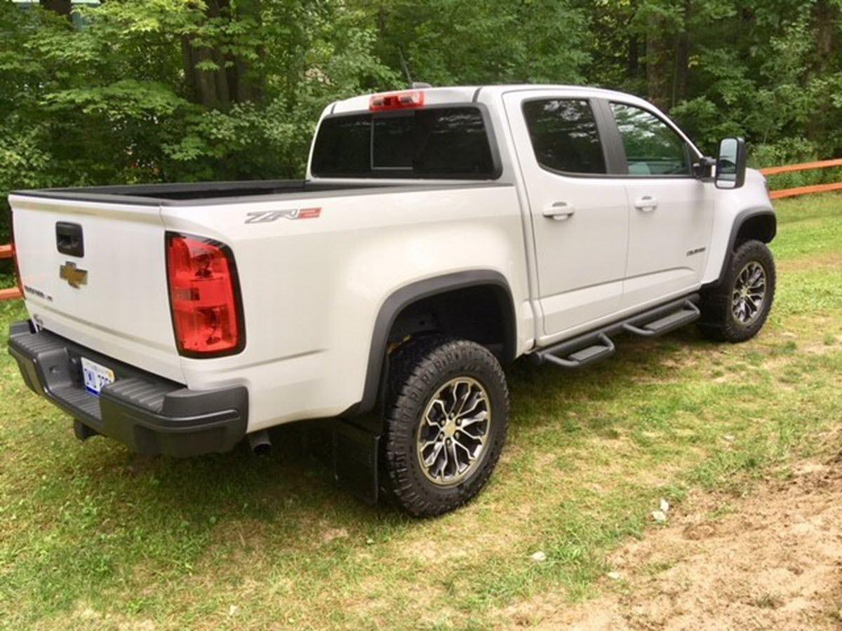"2017 Chevy Colorado Accessories >> Truck Hardware 2017 - 2018 Chevy Colorado ZR2 5/8"" Offset No-Drill Black Mud Flap Set ..."