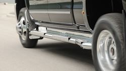 Picture of Stainless Steel Nerfboard - Fits 2003-2009 RAM 3500 Quad Cab Dually 8' Box - SPECIAL ORDER