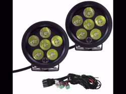 Picture of Iron Cross LED Fog Light Kit For Front Bumper - Round - For Use w/HD Bumpers