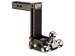 B&W Tow & Stow Adjustable Tri Ball Mount