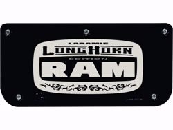 Single Longhorn with Black Wrap Plate With Screws For 12
