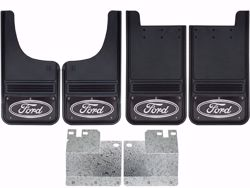 Picture of 2004-2014 Ford F-150 Ford Oval Black Wrap Gatorback Mud Flap Set