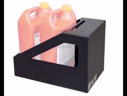Picture of ICI Motor Oil & Lubricant Bottle Rack - E-Coated-Black Textured Powder Coated Finish - Installation Hardware Included
