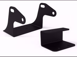 Picture of ICI Off-Road/High Lift Floor Jack Mounting Bracket - Locking Pin Included - 14 Gauge Steel Construction - E-Coated-Black Textured Powder Coated Finish - Installation Hardware Includes