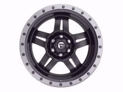 Fuel ANZA Matte Black with Anthractie Ring Wheels