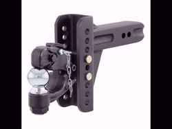 Curt Adjustable Channel Ball Mount with Pintle