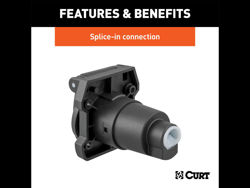 Picture of Curt Heavy-Duty 7-Way RV Blade Connector Socket