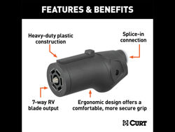 Picture of Curt Heavy-Duty 7-Way RV Blade Connector Plug