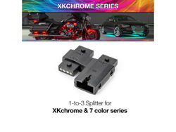 Picture of XK Glow 1 TO 3 Splitter Block XK Chrome or 7 Color Add On