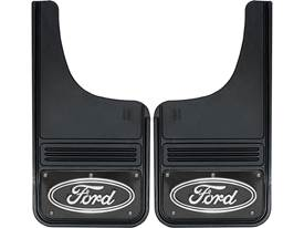 Gatorback Mud Flaps Black Ford Oval Black Wrap
