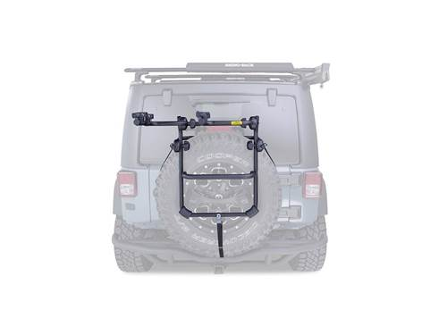 Picture of Spare Wheel Bike Carrier - 2 Bike Capacity - Fold Down - Includes 2 Tie Down Straps - Rear Spare Tire Mount