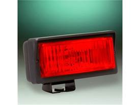 "Picture of 26 Series Emergency Light - 2"" x 6"" Rectangle - Red Lens - Black Plastic Housing - 55 Watts - Single Light"