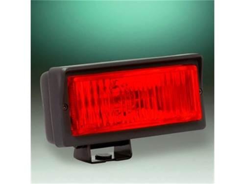 "Picture of 26 Series Emergency Light - 2"" x 6"" Rectangle - Red Lens - Black Plastic Housing - 55 Watts - Single Light"