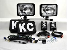 "Picture of 69 Series HID Driving Light - 6"" x 9"" Rectangle - Clear Lens - Black Housing - 50 Watts - Pair Of Lights"