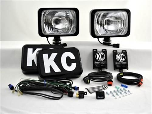 """Picture of 69 Series HID Driving Light - 6"""" x 9"""" Rectangle - Clear Lens - Black Housing - 50 Watts - Pair Of Lights"""