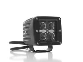 "Picture of LED Flood Light - 3"" Rectangle - Clear Lens - Black Housing - 16 Watts - C3F LED - Pair Of Lights"