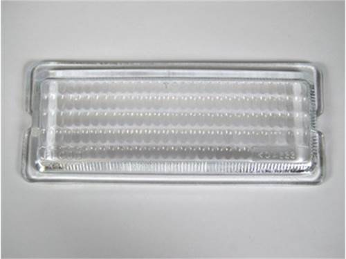 """Picture of Flood Light Lens - 2"""" x 6"""" Rectangle - Clear Glass Lens - Single - For Use w/PN[517/1763] 26 Series Lights"""
