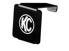 Picture of Cube LED Light Cover - Black Acrylic - Black Lens w/White KC Logo - Fits KC Model 310/1310 - Each