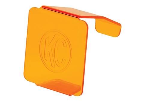 Picture of C3 LED Light Shield - Amber Acrylic - Amber Lens w/White KC Logo - Fits KC Model 330/1330/332/1332 - Each