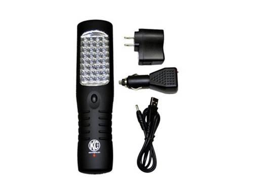 Picture of LED Work Light Flashlight - Flood Light - Black Housing - Rechargeable