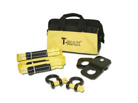 "Picture of T-Max ATV Winch Accessory Kit - Includes 2 Tree Trunk Protectors - 2 1/2"" D-Shackles - 1 Snatch Block - Gear Bag"