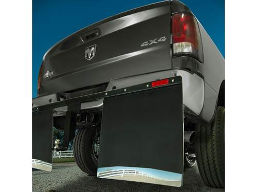 Husky Hitch Mount Mud Flaps - Installed