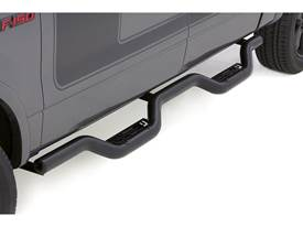 Lund Latitude Nerf Bar - Black Powder Coat