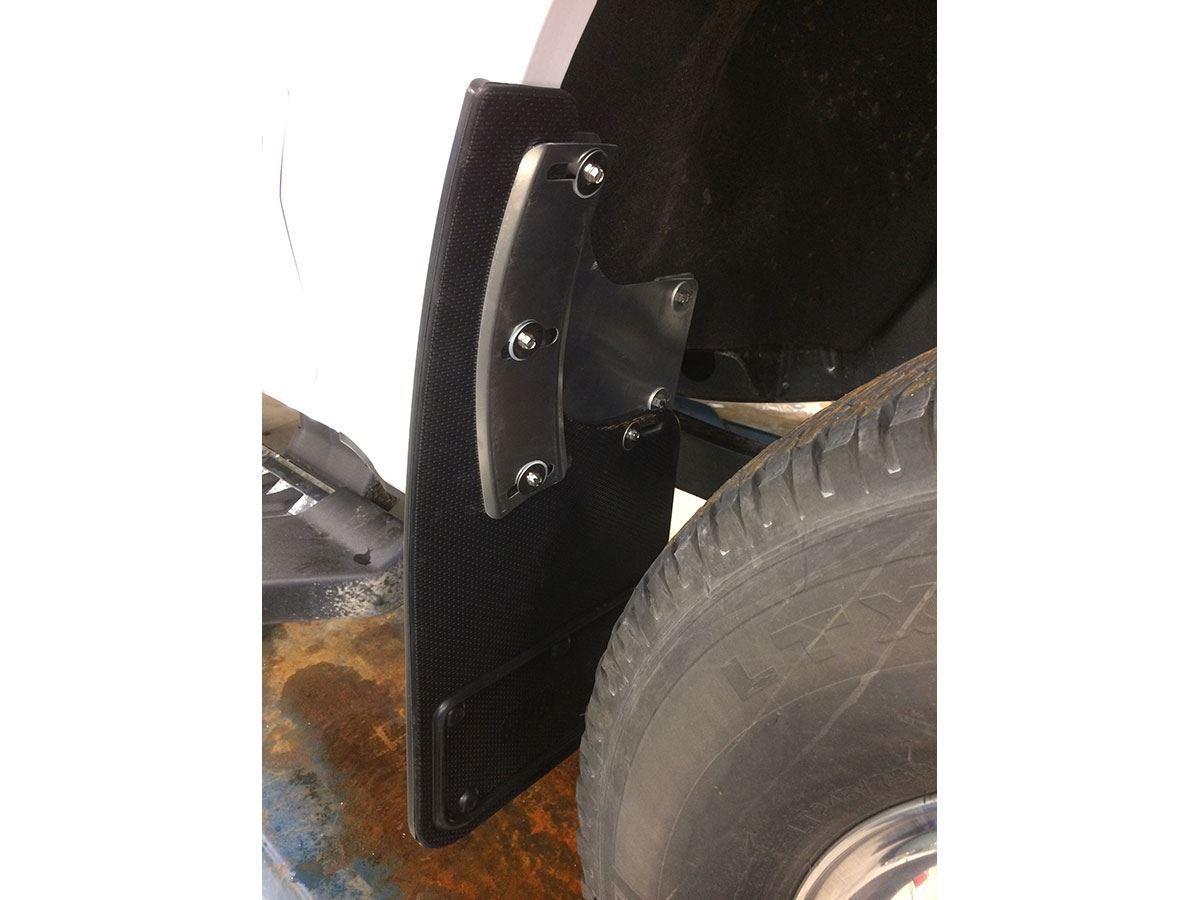Rubber floor mats for sale - Truck Hardware 2017 Ford F250 F350 Black Oval Gatorback Mud Flap Set