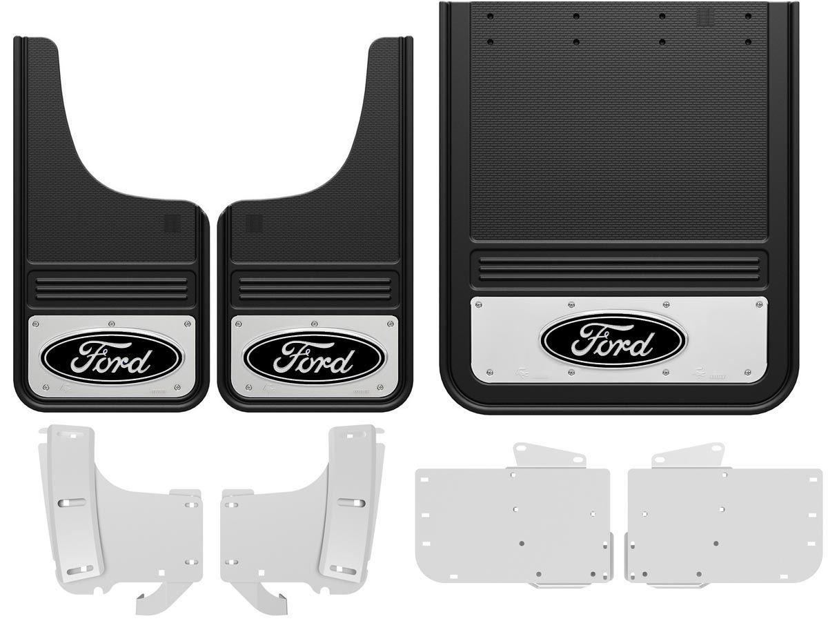 2017 ford f350 black oval gatorback dually mud flap set. Black Bedroom Furniture Sets. Home Design Ideas