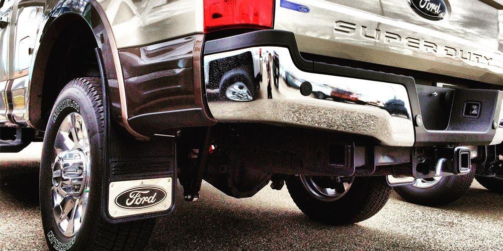 2017 Ford Super Duty Gatorback Mud Flap Options