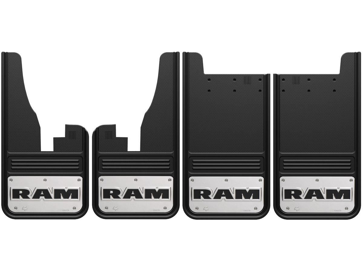 2009 2017 RAM Text Gatorback Mud Flap Set